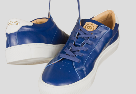 The Royale   Mediter Blue    White Sole   Greats
